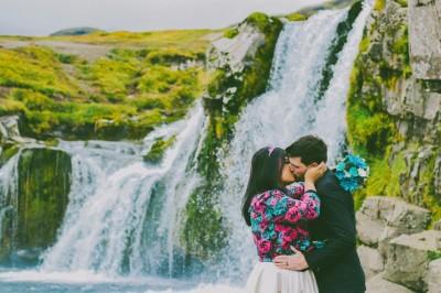 Kristal & Ryan eloping in Kirkjufellfoss, Iceland