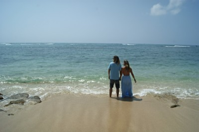 Bride & Groom on Leahi Beach