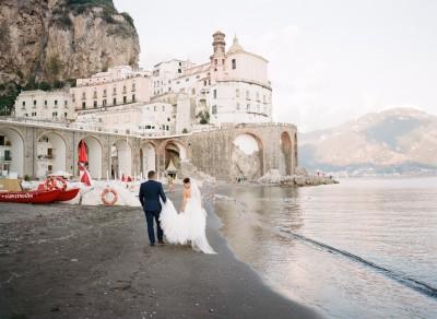 Bride & Groom in Ravello, Italy, Europe