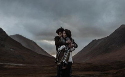 Bride & Groom in Glencoe, Scotland