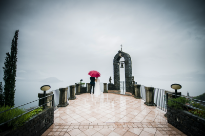 Bride & Groom on Lake Como, Italy