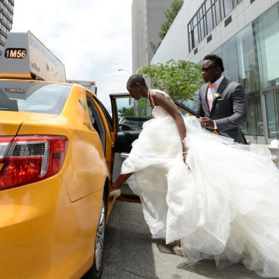 Bride & Groom eloping in Central Park