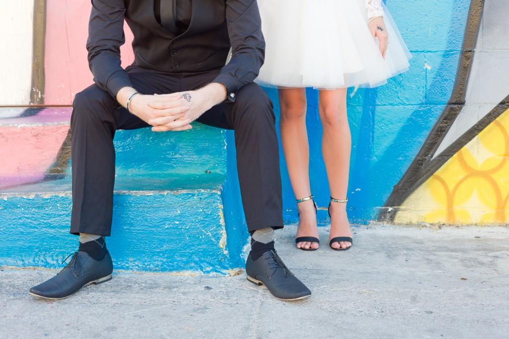 Alternative Bride and Groom Eloping in Las Vegas