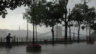 Summer storm in Budapest