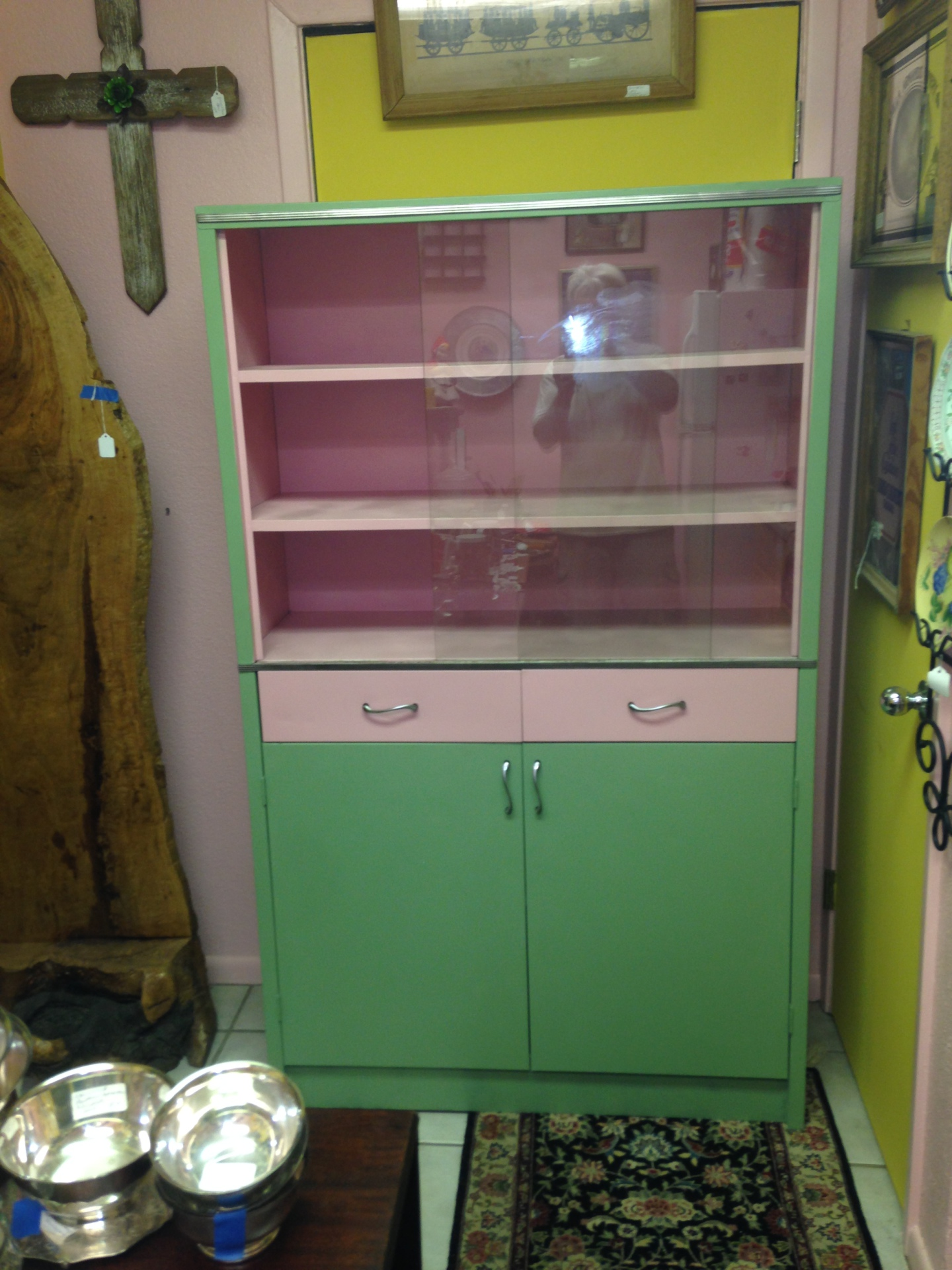 1950/60s Metal Kitchen Cabinet