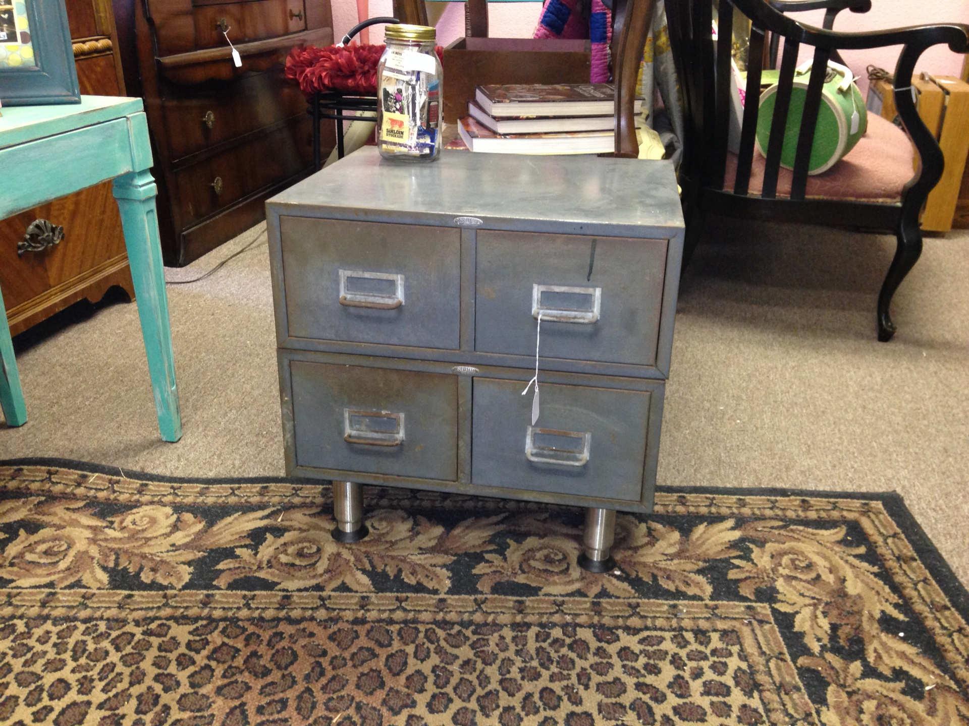 Old Metal File Drawers