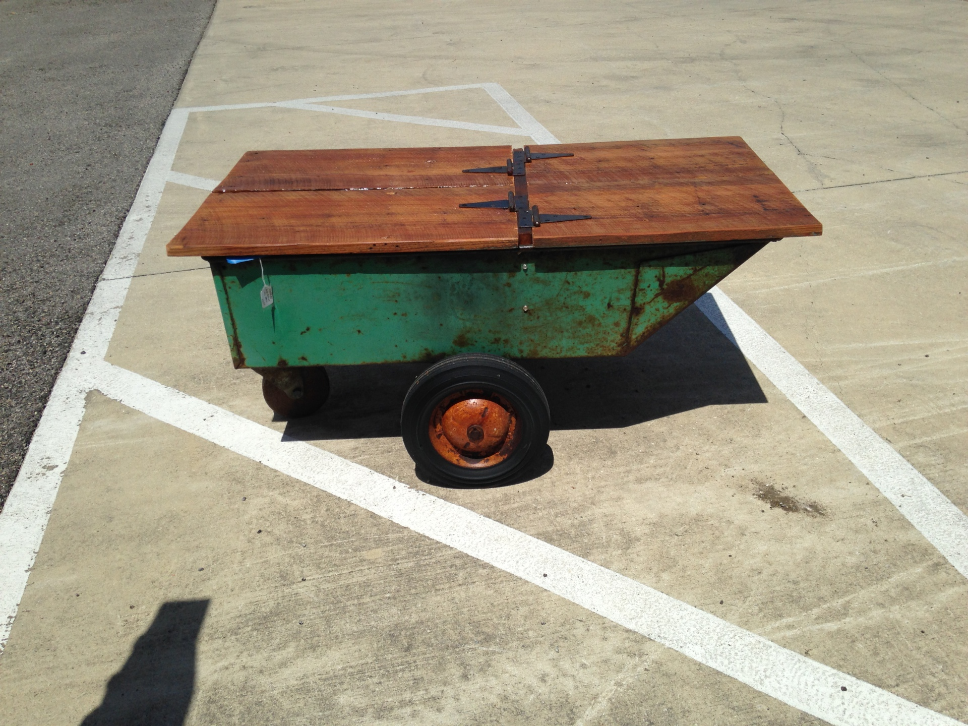 Old Metal Cart - Now a Coffee Table
