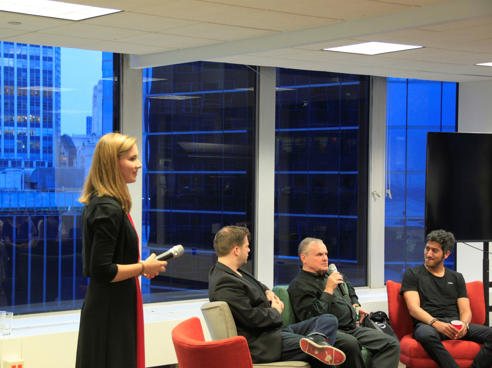 Ekaterina Dorozhkina,  Starta Accelerator managing partner, hosting the event