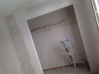 Closet opening, drywall, framing, new look, dust free drywall.