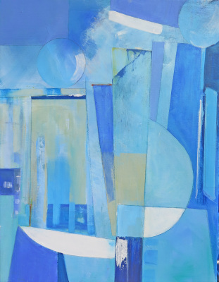 Cornish Blues II - Acrylic - SOLD