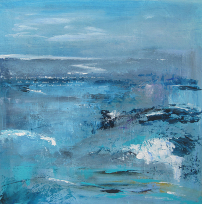 Cornish Seas - Mixed Media - SOLD