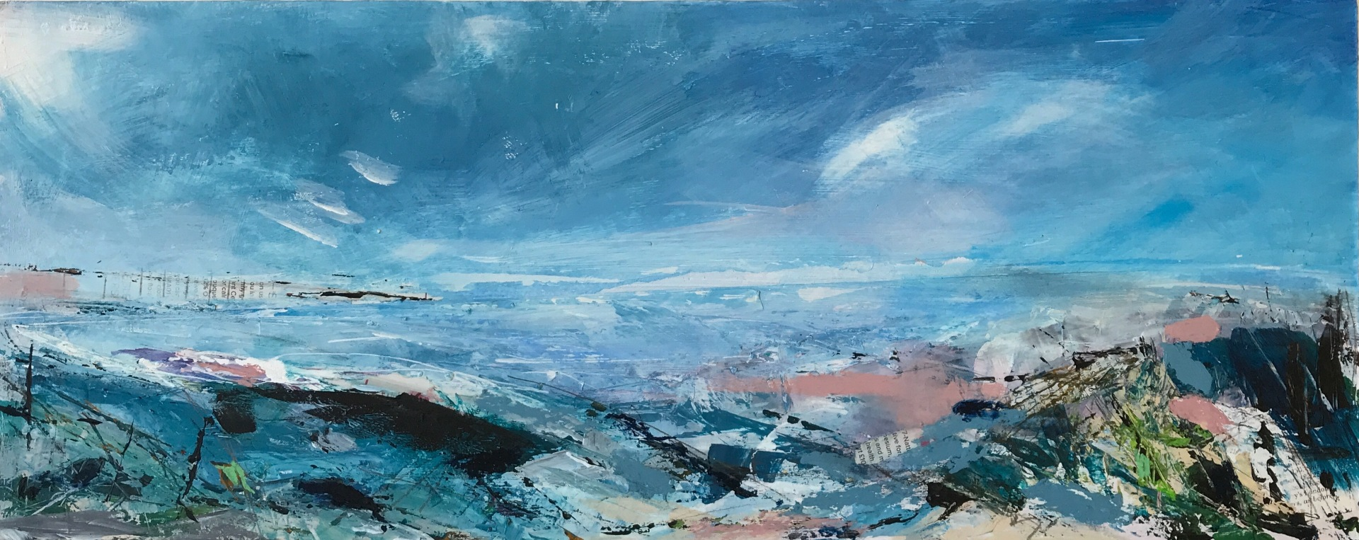 Towards the Light 51 x 20cms - SOLD