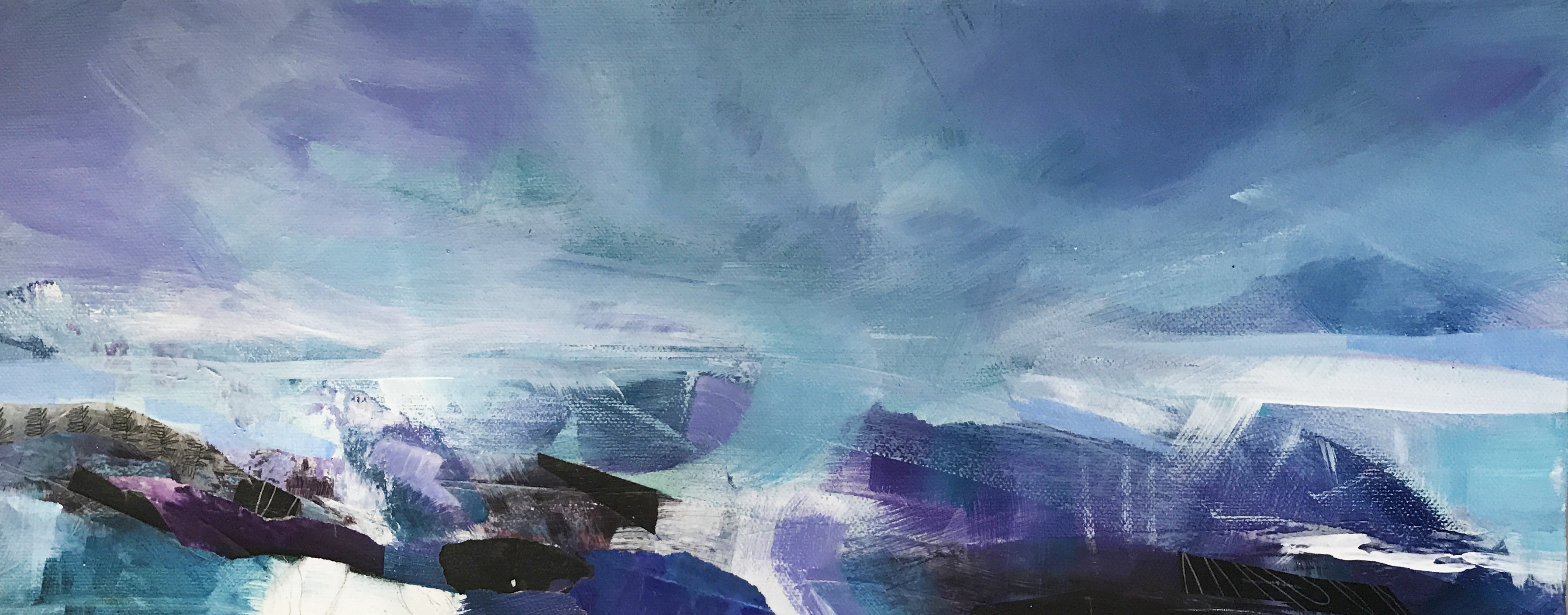 And the ice melted - 50 X 20 cms- SOLD