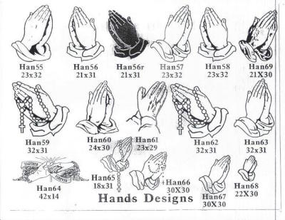 Praying Hands Designs