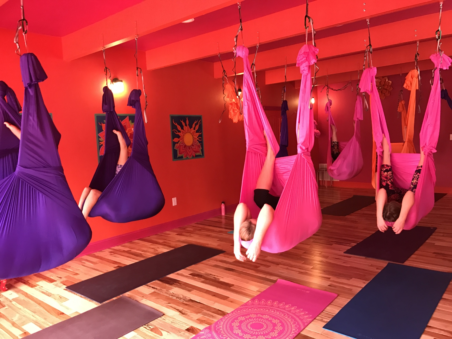 aerial yoga, sleeping bear