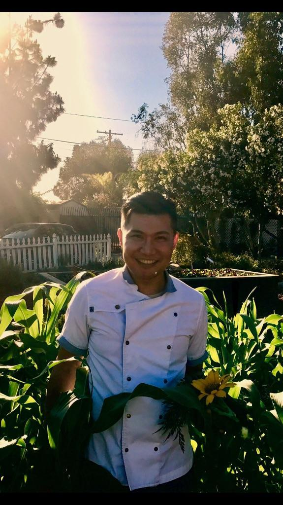 Chef Ty in the Garden