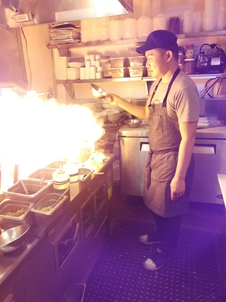Chef Ty of Thai District, Masterful Flambe