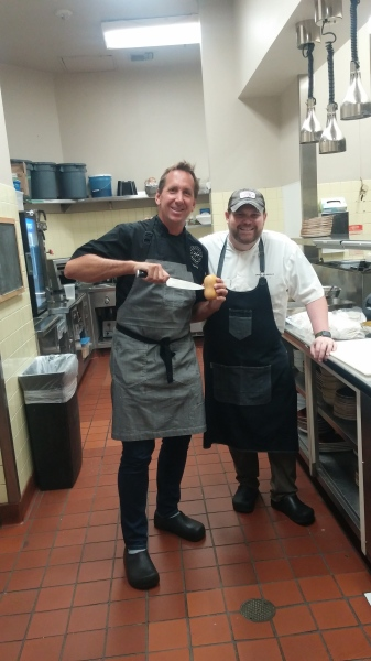 Owner Chef Dean and Executive Chef Dave working hard