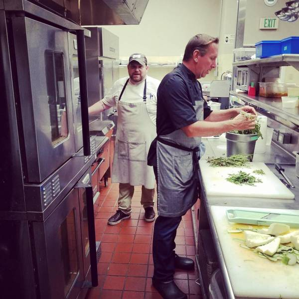 Owner Chef Dean and Chef Dave in the Kitchen