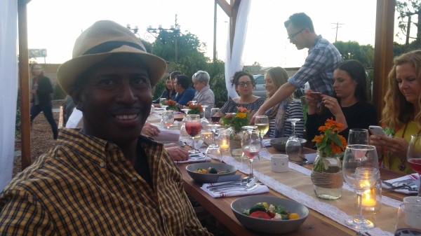 Farmer Rod enjoying himself at a Farm to Table event