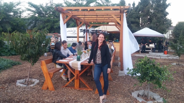 Co-Owner Dana at Farm to Table dinner