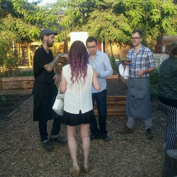 Chef Pretty at Resturation Farm to Table Dinner