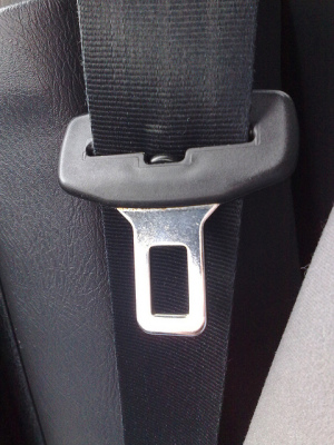 Seat belt plug by Benjamin Goodger