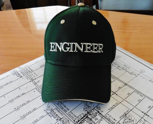 Engineer Cap Dark Green and Tan