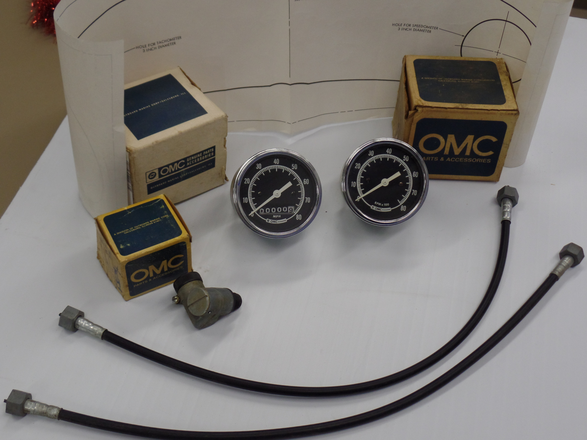 N.O.S. Speedo and Tach rare add on kit