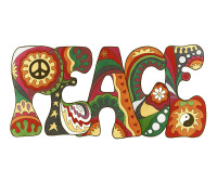 psychedelic, peace, love, hippy, hippie, colourful, vintage, rainbow, unique, art, funky, cool,