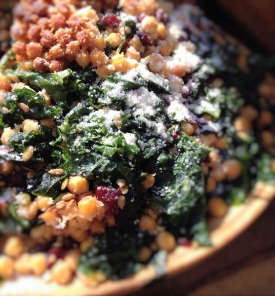 Parmesan Chickpea Kale Salad