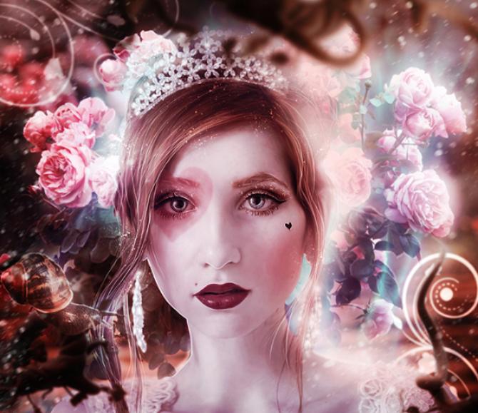 Escape to Wonderland-art by Evelyne Paniez