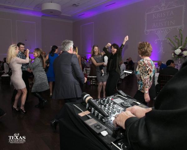 Jeff DJ'ing A Packed Dance Floor