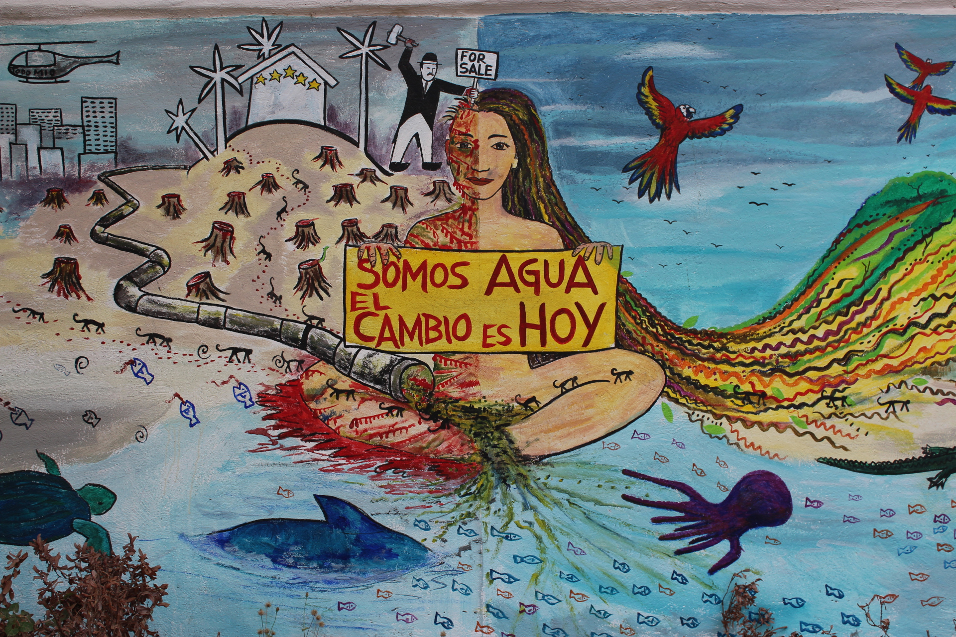 Mural on the Instituto de Oceonlogia