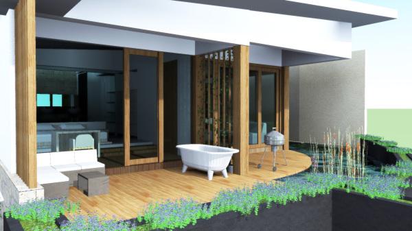 Private Terrace on Cliff Villa