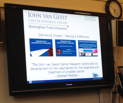 John van Geest Cancer Research Presentation by Graham Pockley for Fab