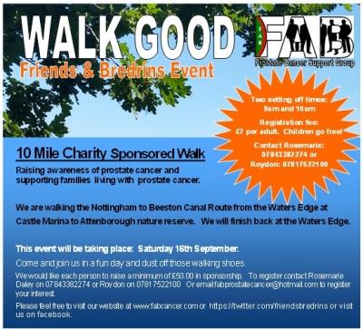 10 Mile Sponsored Walk 'Walk Good'