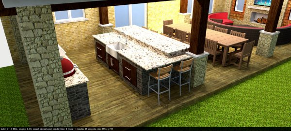 backyard design, 3D Design, covered patio, construction, renovation, addition