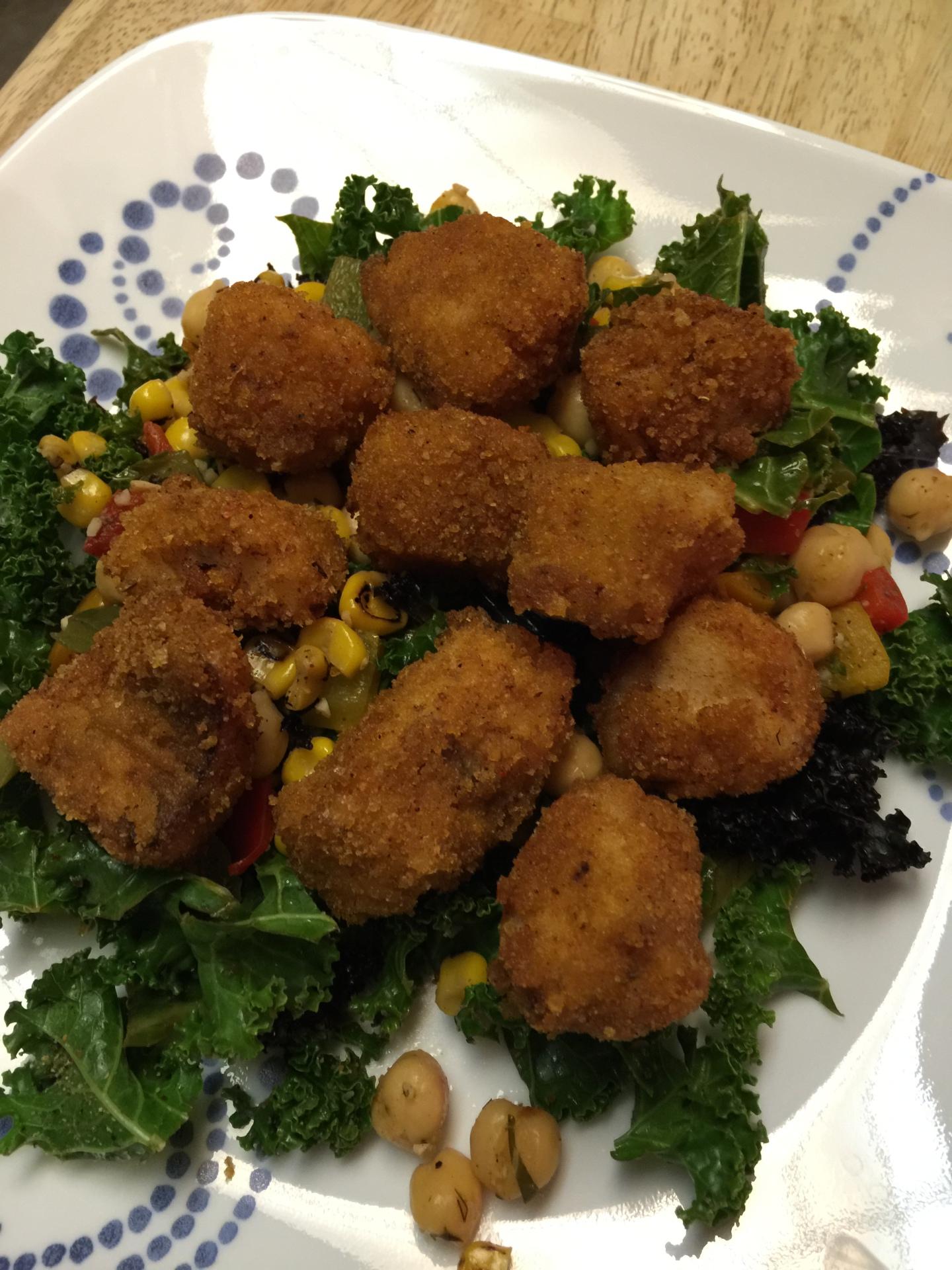 Rockfish and a warm Kale Salad
