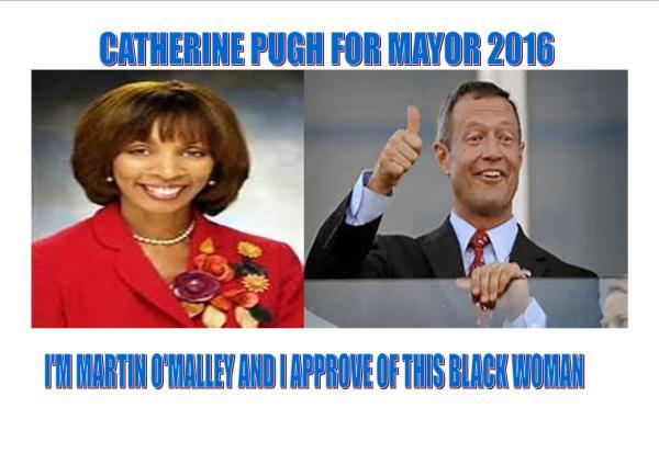 Senator Pugh supported by O'Malley machine