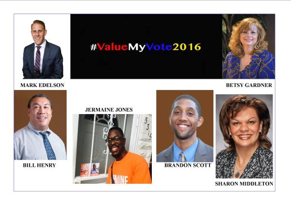 Baltimore City 2016 Election Endorsements [Districts 1 – 6]