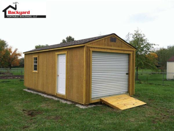 ATV garage, boat garage, shed, tool shed, Utility vehicle garage, hunters garage