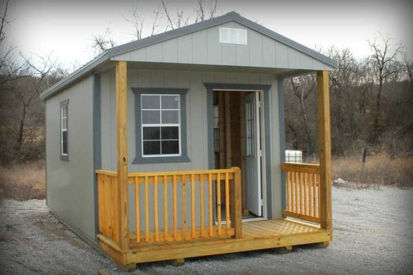 A Frame Tiny House, cabin porch ready built office