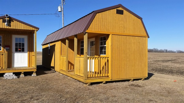 12x32 Side Lofted Barn Cabin