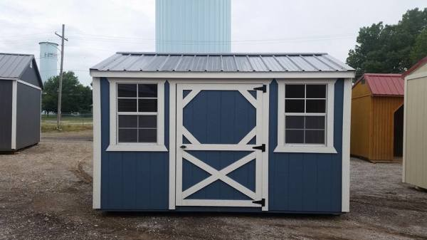 lawn mower building, reloading room, dog kennel, storage building, free delivery, LP Smart Panel siding, mini storage no more!