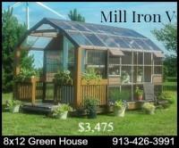 Green House portable delivered pre-assembled kansas, missiouri, nebraska, iowa self sufficent, grow your own, vegtable flower fruit garden