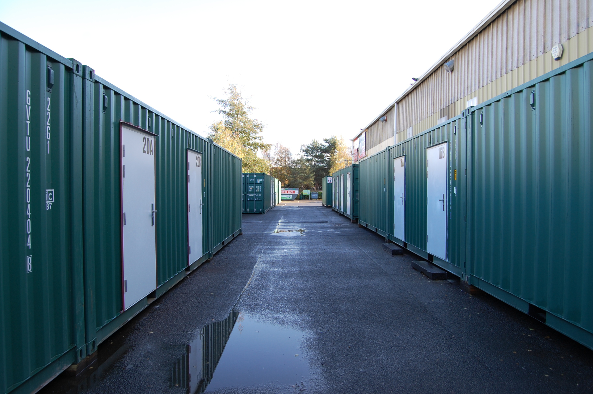 Corridor of containers