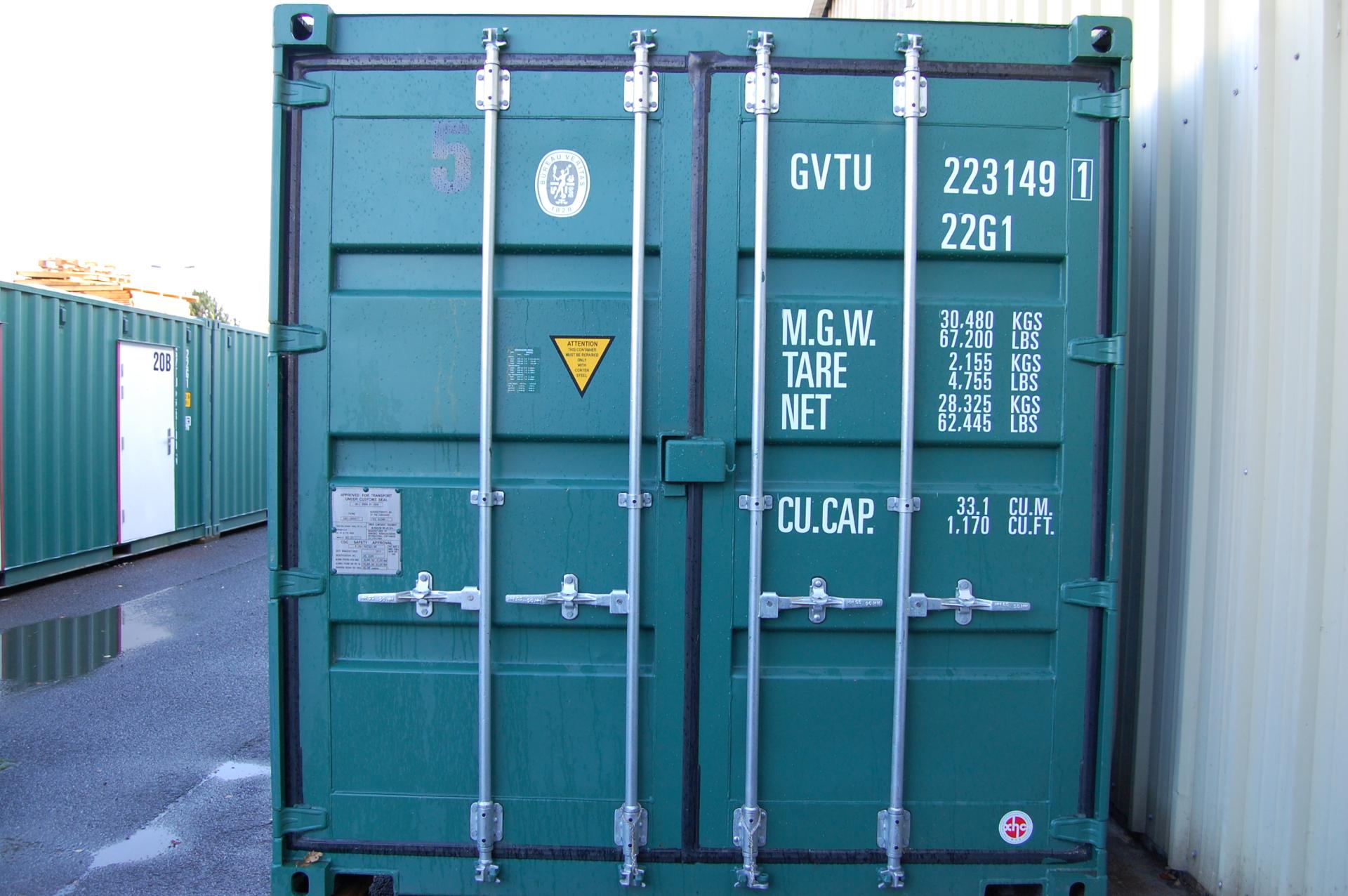 Unit container doors