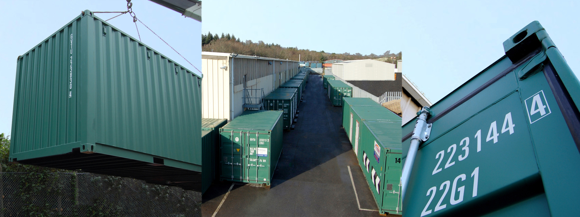 Triden Self Storage Unit Container Green Home