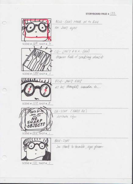 PRELIMINARY STORYBOARD PAGE 133